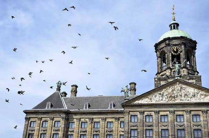 Dam Square is one of the best photography spots in the Netherlands