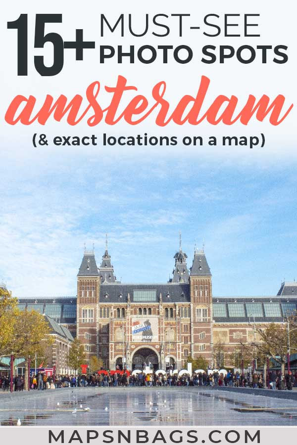 Best instagrammable spots in Amsterdam by a local. Including a free map with all photography locations and many tips for you! Check it out! #photospots #Amsterdam #TheNetherlands #Holland #cities #europe #dutch #travel #bicycles #interiors #Beautiful #architecture #inspiration #picture #photography