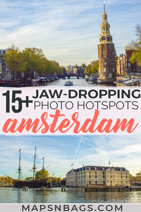Check out the most instagrammable spots in Amsterdam by a local. Including a free map with all photography locations and many tips for you! Read more! #photospots #Amsterdam #TheNetherlands #Holland #cities #europe #dutch #travel #bicycles #interiors #Beautiful #architecture #inspiration #picture #photography