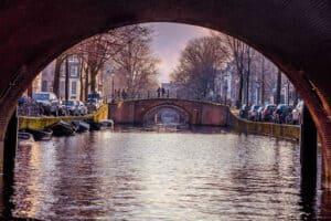 The Seven Bridges makes up for one of the best canal pictures in Amsterdam