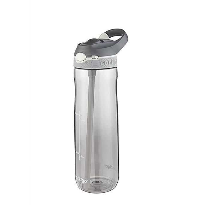 Refillable water bottle for a trip to Europe.