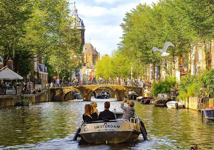 A Boat tour is a must to see the best of Amsterdam in 3 days