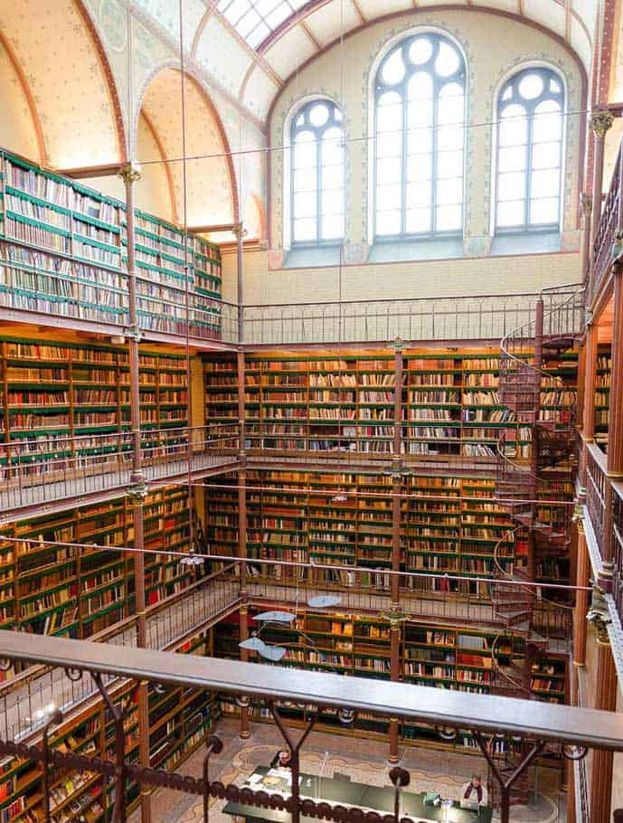 The Rijksmuseum Library is an Instagrammable spot in Amsterdam