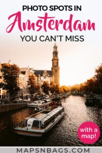 Photo spots in Amsterdam Pinterest graphic
