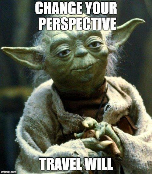 Travel meme of Yoda.