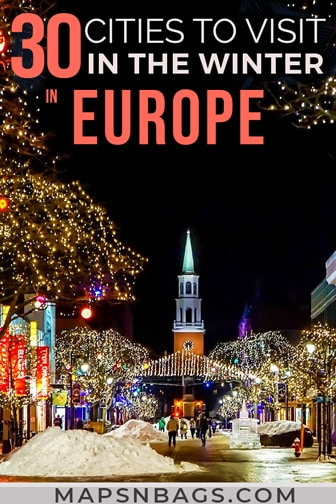Winter in Europe Pinterest graphic