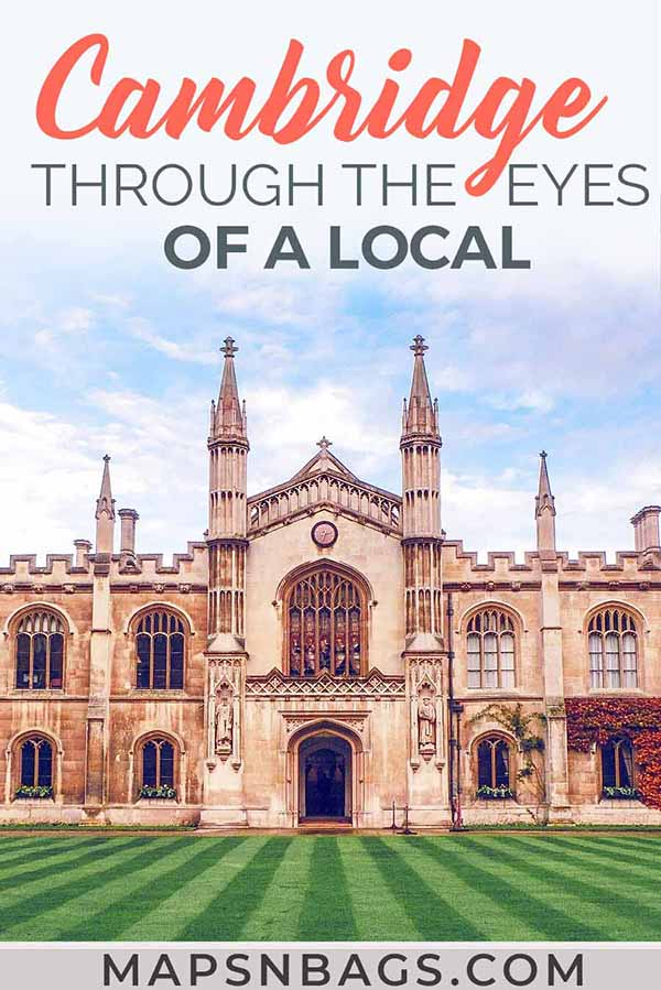 Discover Cambridge through the eyes of a local! Where and what to eat, the best views over the city, fun facts, and much more! #England #UK #Cambridge #mapsnbags