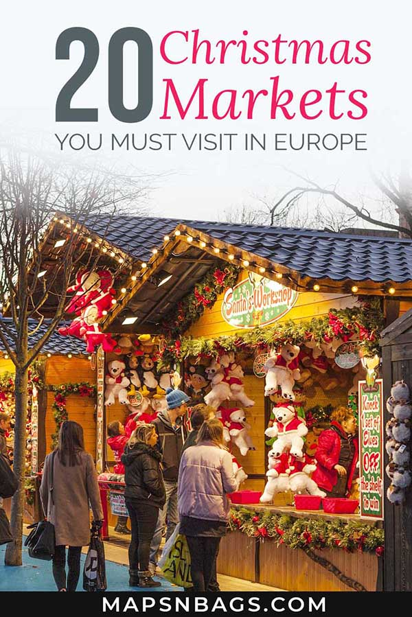 French Christmas Markets | Christmas markets London and Vienna | German Christmas markets | Christmas in Europe | What Places To Visit In Europe during Christmas | Christmas travel tips #mapsnbags