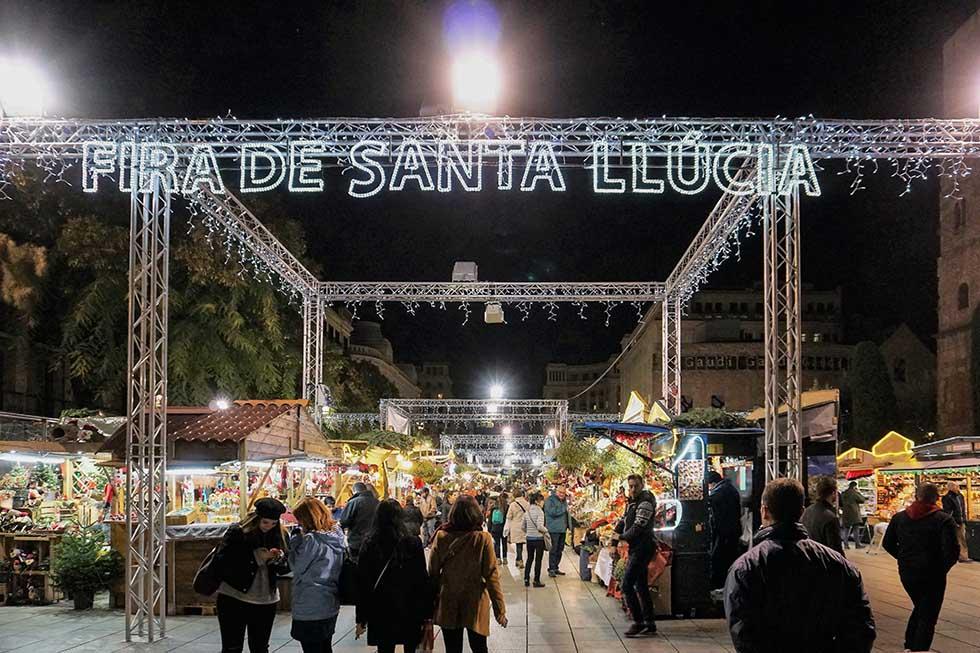 Fira de Santa Llucia, a Christmas market in Barcelona