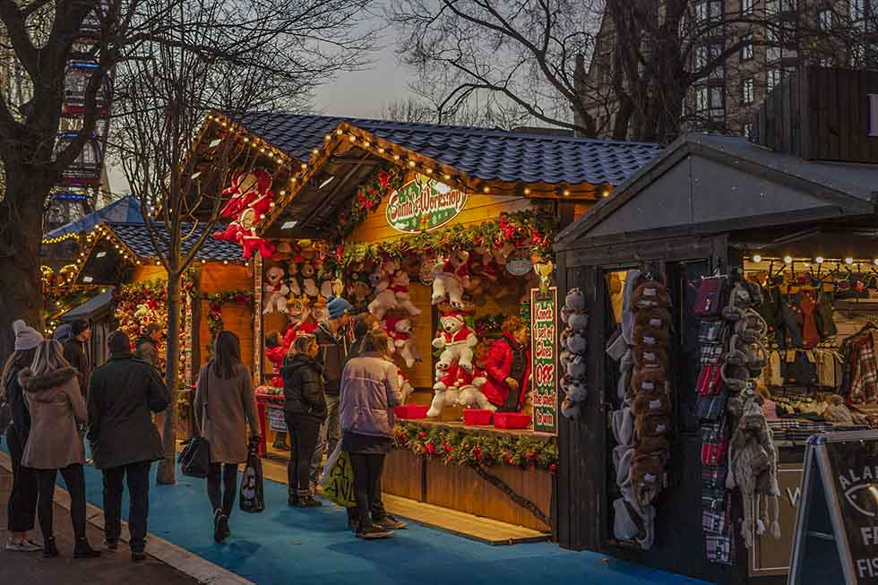 Christmas market in Birmingham