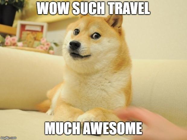 Doge travel meme
