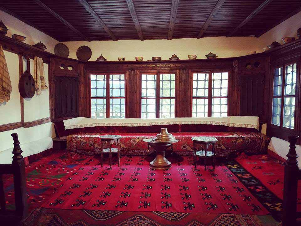 Red room of the Ethnographic Museum in Pristina, Kosovo #Pristina #Kosovo #Travel #Europe