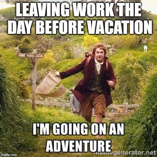 on vacation meme