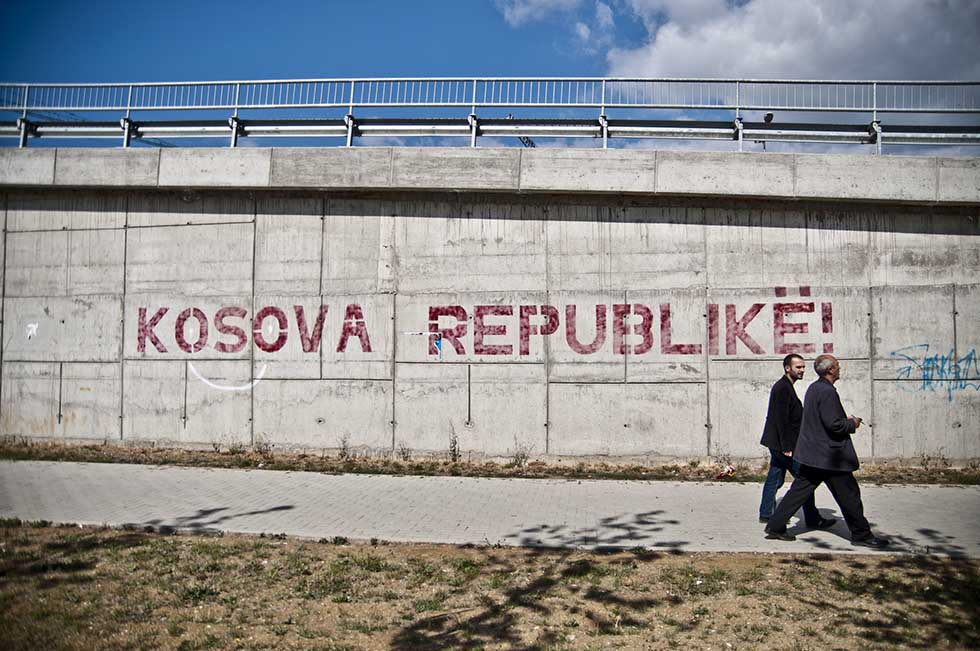 Two words written on a wall Kosova Republike! #Pristina #Kosovo #Travel #Europe