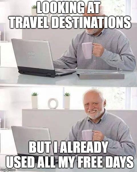 going on vacation memes