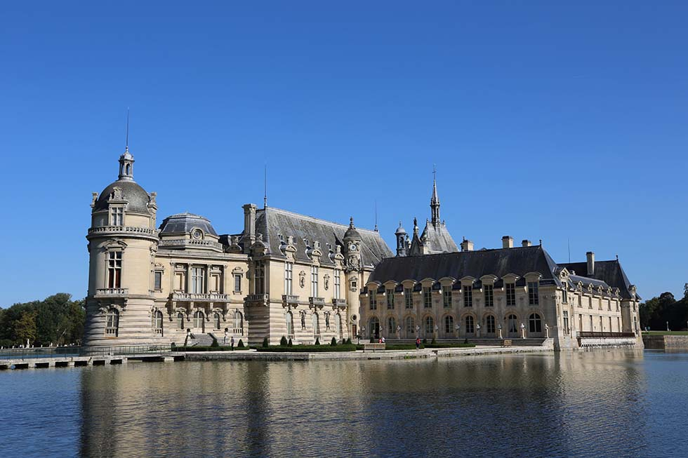 Chantilly Castle in Chantilly, France