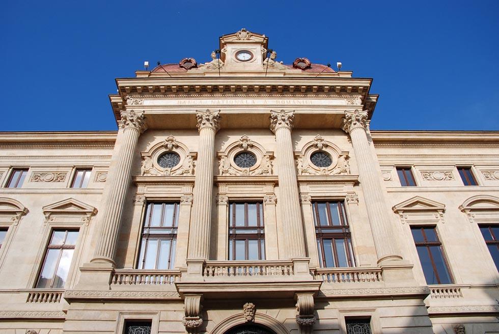 Facade of the National bank of Romania