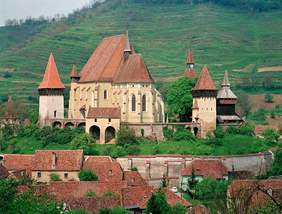 Biertan fortified church in Romania