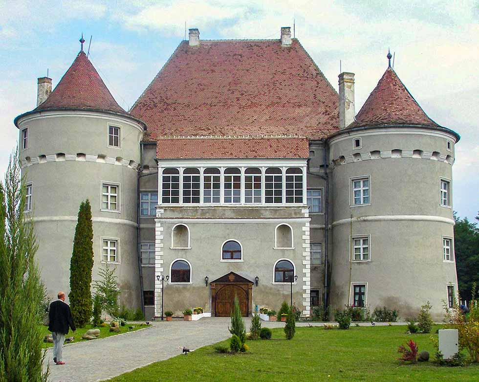 Gray Jidvei castle in Romania