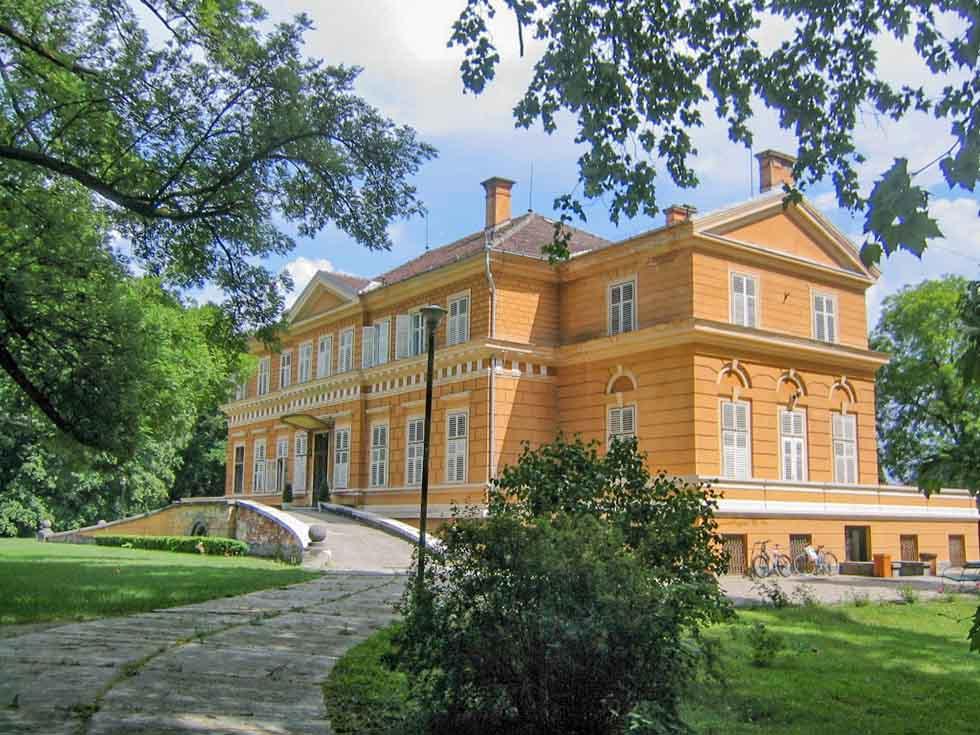 Yellow Savarsin Castle near Sibiu in Romania