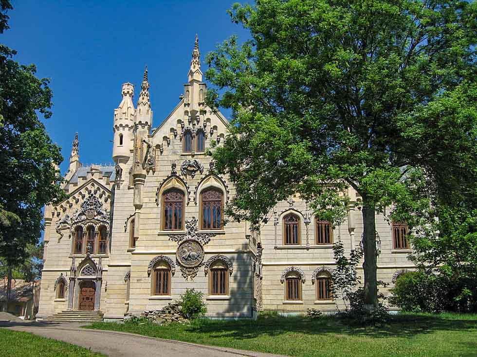 White Sturdza Castle in Miclauseni, Romania
