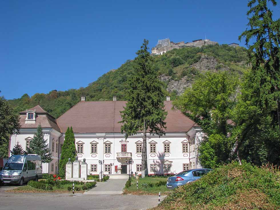 Magna Curia and the fortress on the hill in Romania
