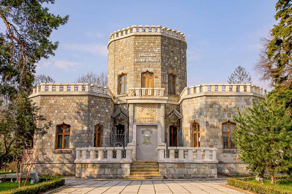 Iulia Hasdeu Castle in Romania in a sunny day
