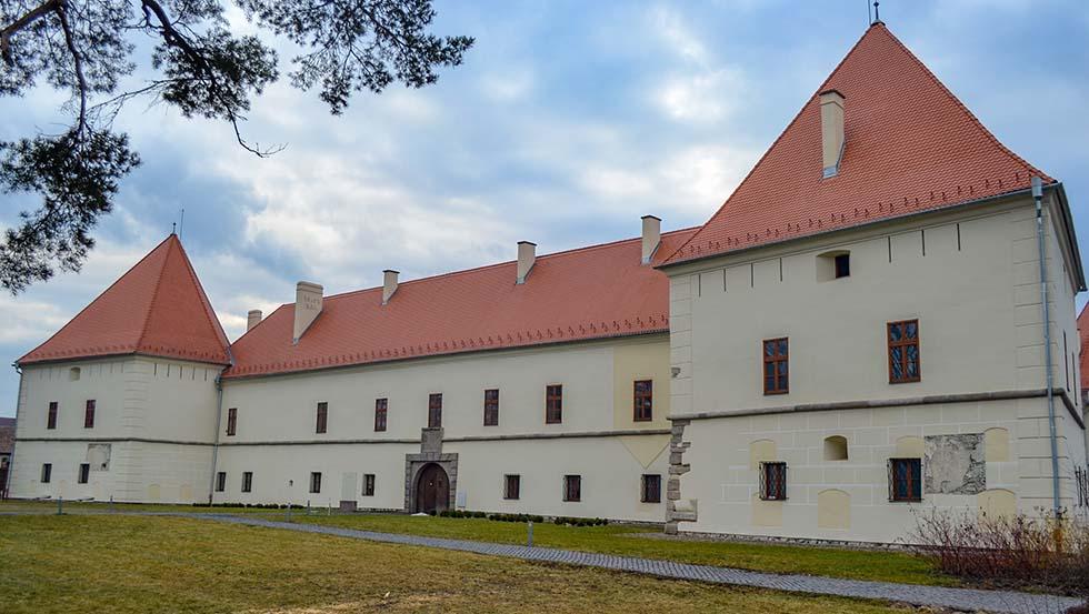 The white Miko castle in Romania