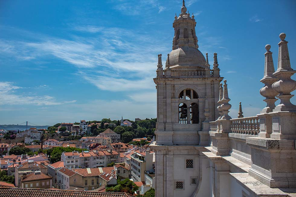 View from Monastery Sao Vicente de Fora in Lisbon #Portugal #travel #Europe