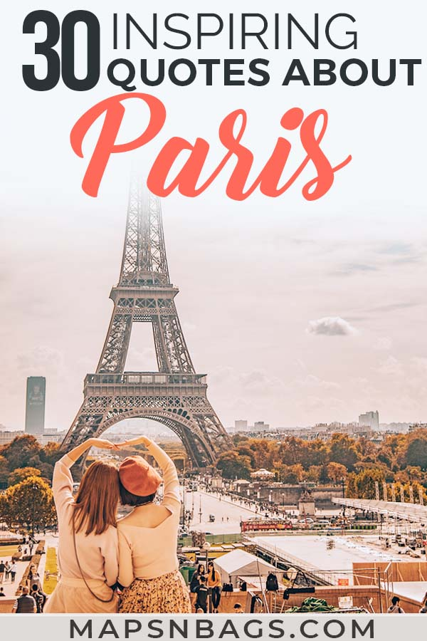 Are going to travel to the French capital and want some inspiration? Oh so romantic! Paris is the city of lights and many famous writers have something to say about it. Check out these (love) quotes about Paris! #MidnightIn #EiffelTowers #Instagram