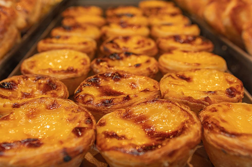 Portuguese custard tart in Lisbon #Portugal #travel #Europe