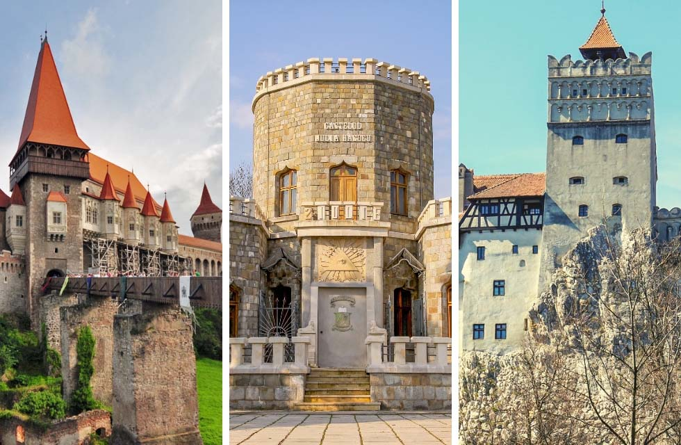 Take a look at most beautiful castles in Romania! You'll love these pictures and probably add it to your Europe bucket list. I can't blame you though. They are remarkable! Including a map and practical info on how to get to them. Travel to Romania to get inspired by these castle's striking architecture and legends, including the Dracula one. #Castles #Romania