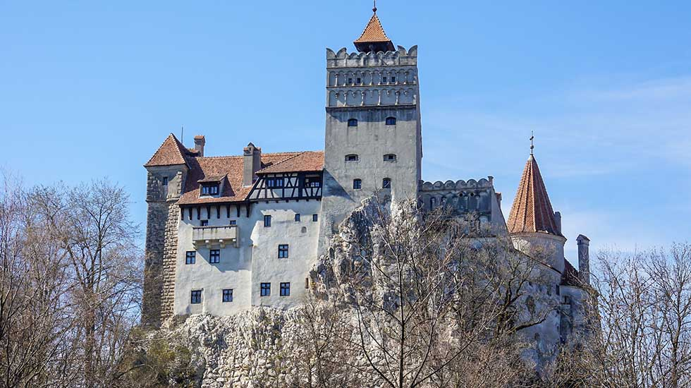 Bran castle in the town of Bran, Transylvania, Romania. The Count Dracula Castle.