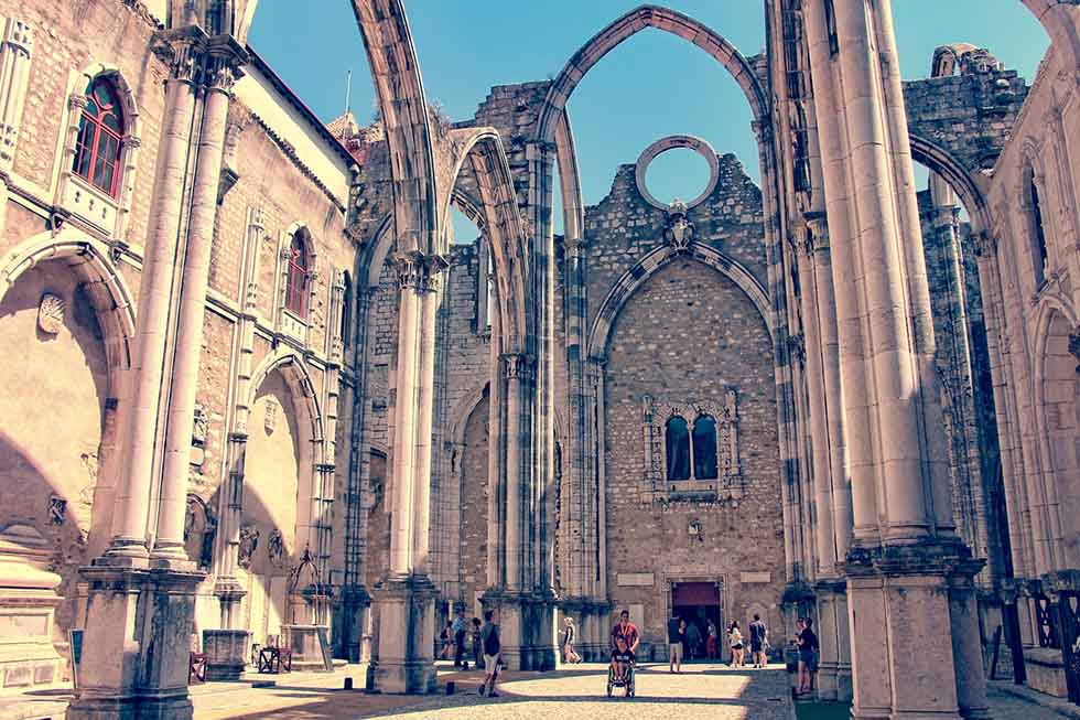 Carmo convent ruins in Lisbon #Portugal #travel #Europe