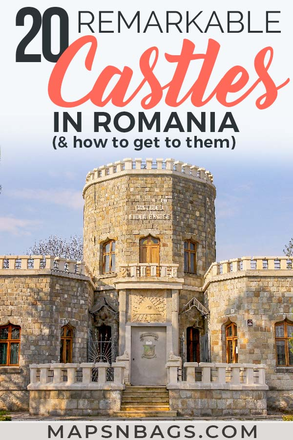Check out these beautiful castles in Romania! Including some abandoned castles as well as some that are among the prettiest castles in Europe. Romanian castles have striking architecture and many legends, including the Dracula one. Be sure to add it to your travel bucket list! Including a map and practical info on how to visit them. #Castles #Romania #AbandonedCastles