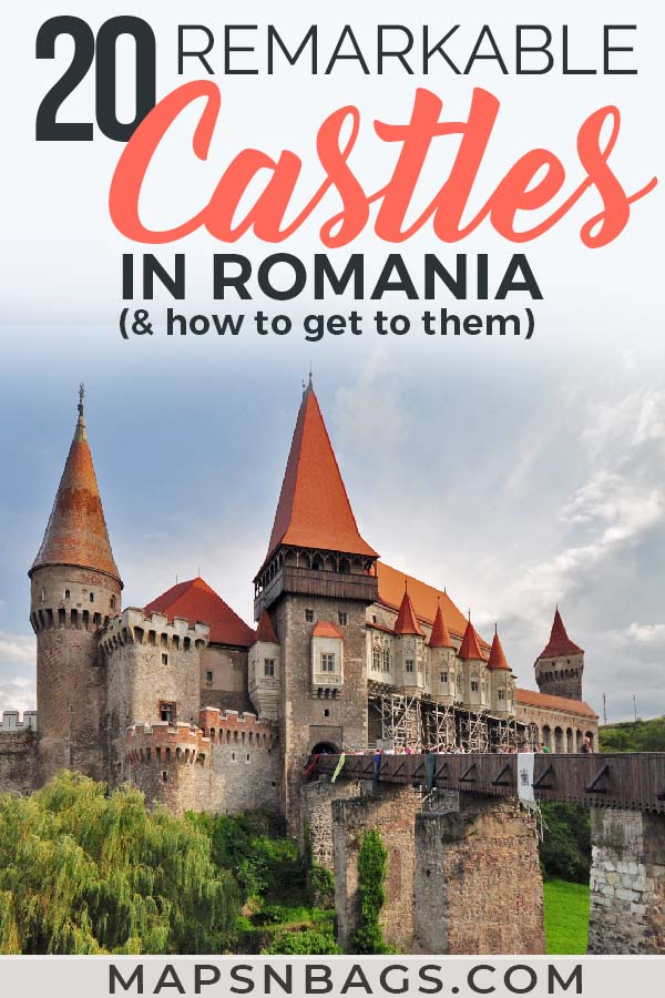 Take a look at most beautiful castles in Romania, including many abandoned castles! You'll love these pictures and probably add it to your Europe bucket list. I can't blame you though. They are remarkable! Including a map and practical info on how to get to them. Travel to Romania to get inspired by these castle's striking architecture and legends, including the Dracula one. #Castles #Romania #AbandonedCastles