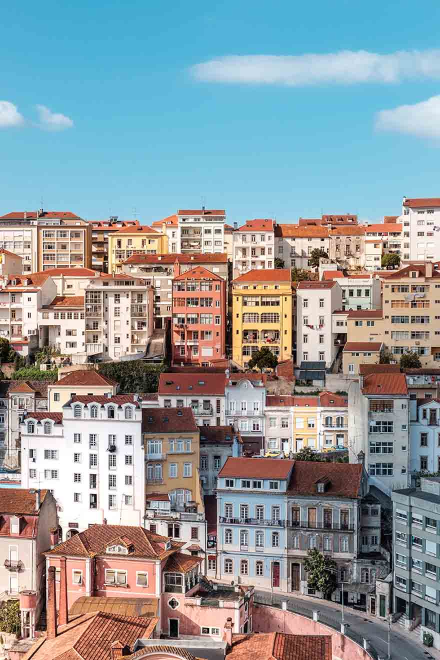 Colorful Houses built on a hill in Lisbon #Portugal #Europe #Travel