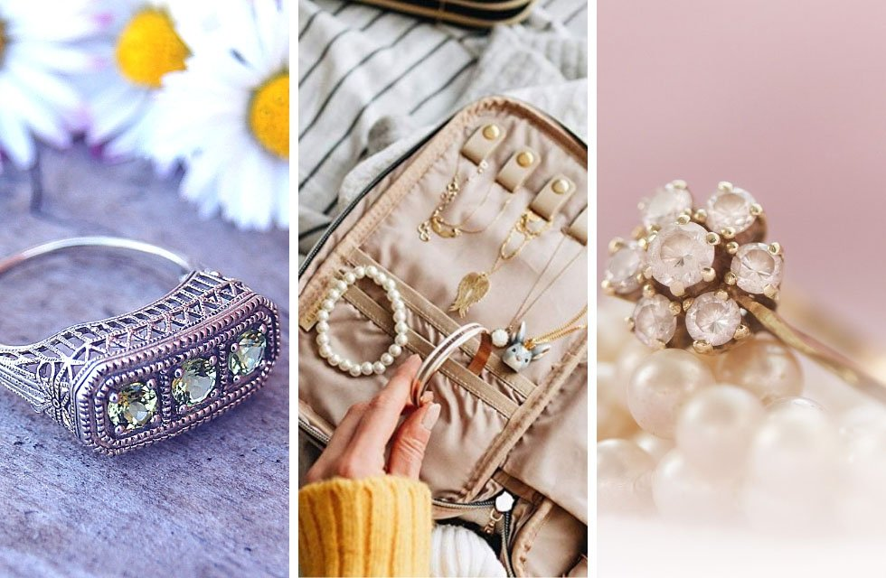 Check out the pretties cases, rolls, bags, everything to organize your jewelry! Every travelers needs a place to organize their necklaces and rings. Check it out!