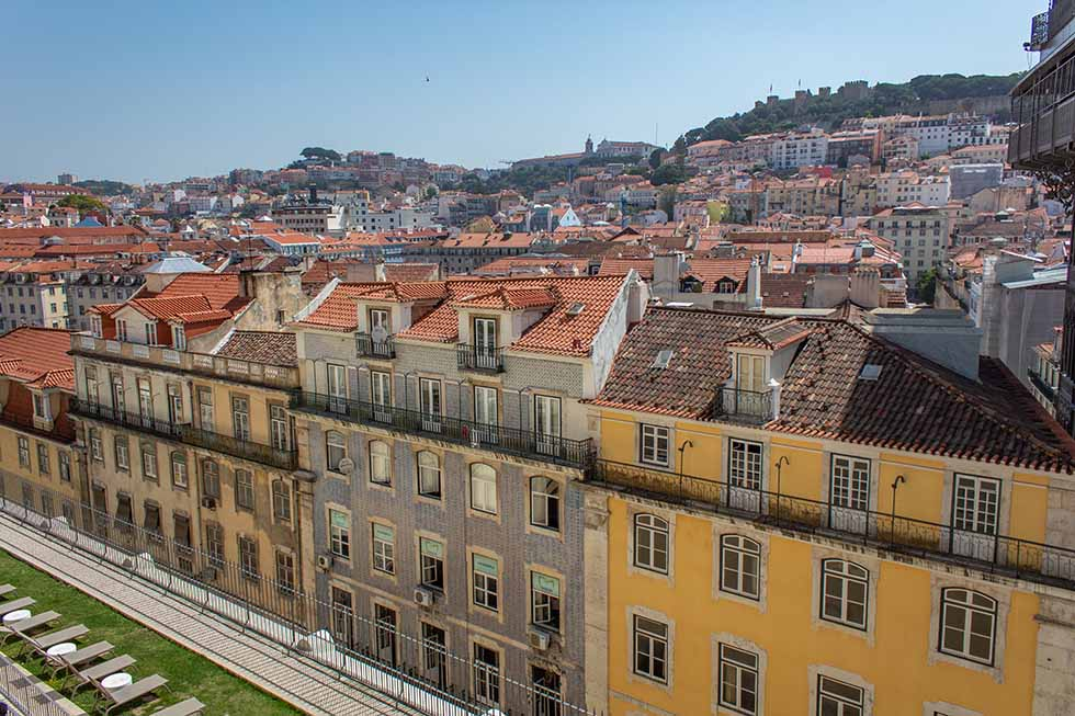 View from the Santa Justa Lift in Lisbon #Portugal #travel #Europe