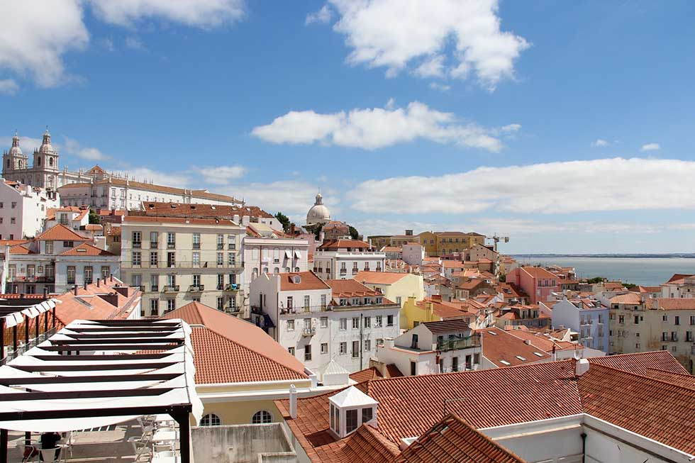 Portas do Sol view in Lisbon #Portugal #travel #Europe