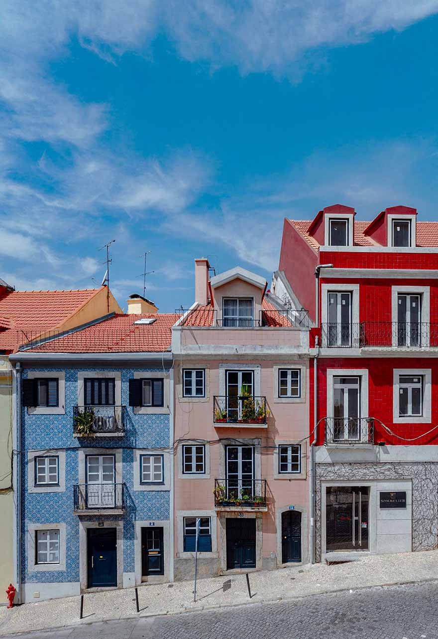 Colorful houses in Lisbon #Portugal #Europe #Travel
