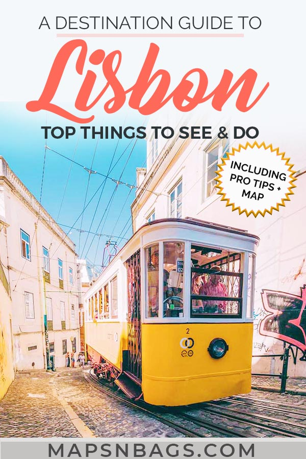 Pinterest graphic about Lisbon