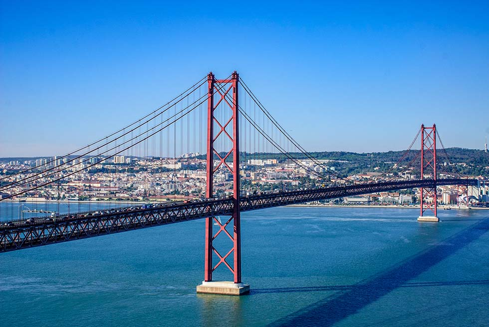 25th april bridge over Tagus River in Lisbon #Portugal #Europe #Travel