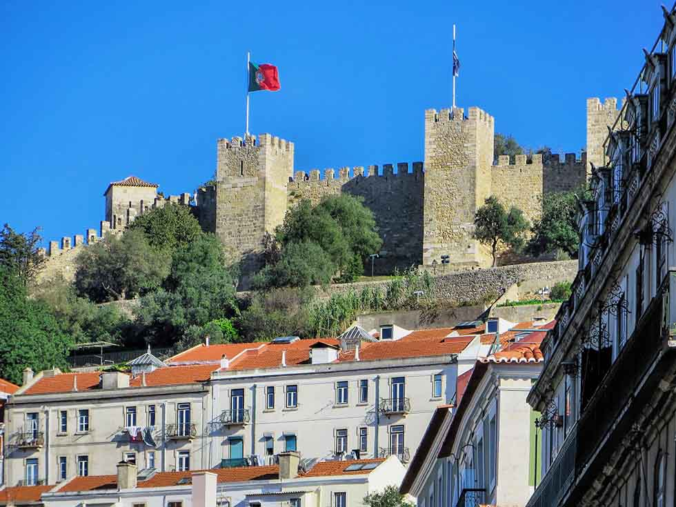 Sao Jorge Castle in Lisbon #Portugal #travel #Europe