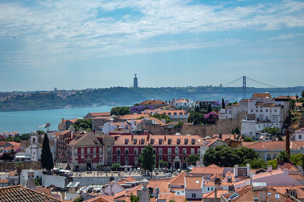 View over Portas do Sol Deck in Lisbon #Portugal #Europe #Travel