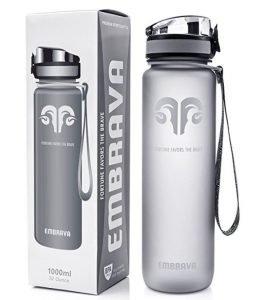 Gray bottle of water