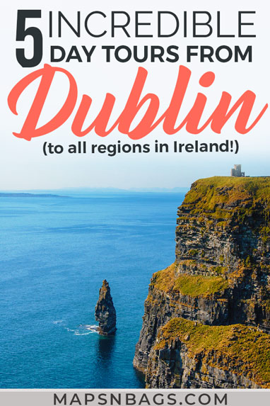 Need help choosing the best day tours from Dublin? Then check out this in-depth guide to stop you from feeling overwhelmed! I've selected 5 day trips that cover all regions of Ireland. Read more! Best Day Tours From Dublin Worth Your Money | Best day trips in Ireland | day trips from Dublin | things to do in Ireland | what to do in Ireland | best day trips and tours in Ireland | day trips from Dublin Ireland #ireland #dublin #mapsnbags