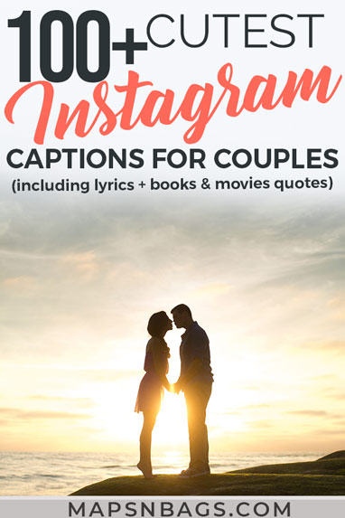 Looking for some inspiration? Check out these cute Instagram captions for couples to express your feelings online! We've selected the best and most romantic short phrases, love quotes from books and movies, and lyrics too! Funny and romantic quotes for happy relationships. Check it out! Instagram captions | Cute Instagram Captions | Love quotes | Captions for couples | Captions for Instagram #Instagram #mapsnbags #captions