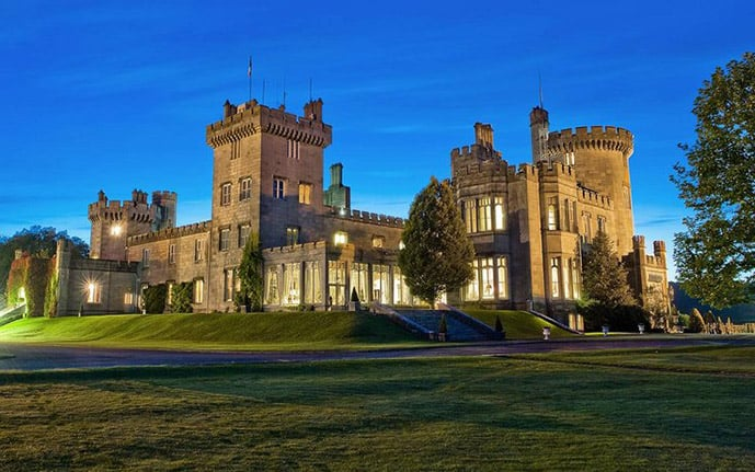 Dromoland castle hotel in Ireland