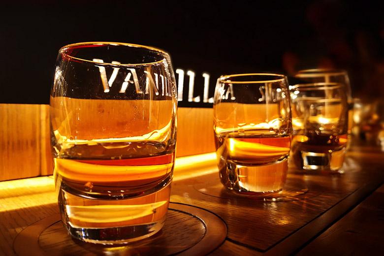 Glasses of the irish whiskey Jameson